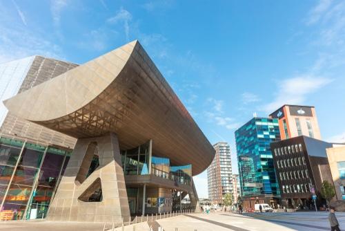 Manchester,,Uk,-,September,25,,2018:,The,Lowry,Theatre,And